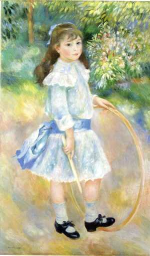 Pierre Auguste Renoir - Girl With A Hoop