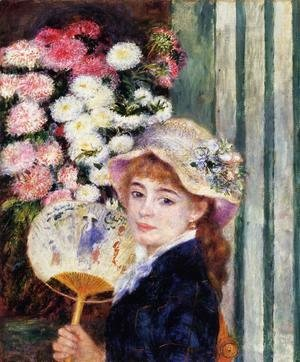 Pierre Auguste Renoir - Girl With Fan
