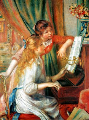 Pierre Auguste Renoir - Girls At The Piano2