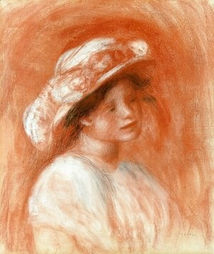 Pierre Auguste Renoir - Head Of A Girl
