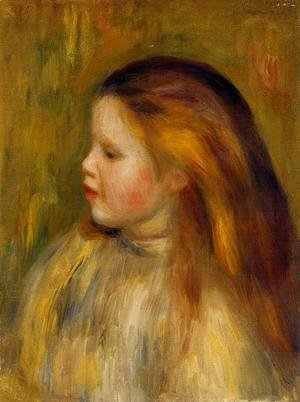 Pierre Auguste Renoir - Head Of A Little Girl In Profile