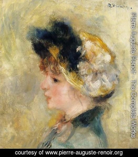 Pierre Auguste Renoir - Head Of A Young Girl
