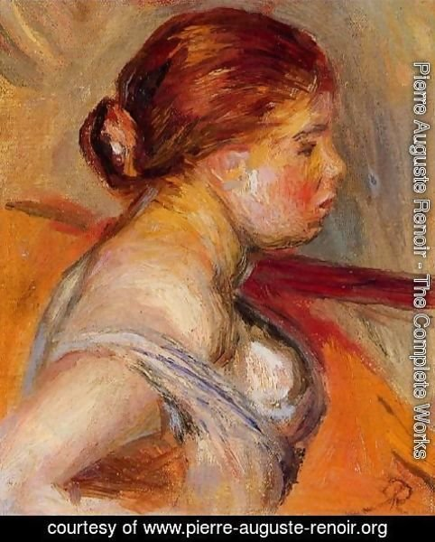 Pierre Auguste Renoir - Head Of A Young Girl 4