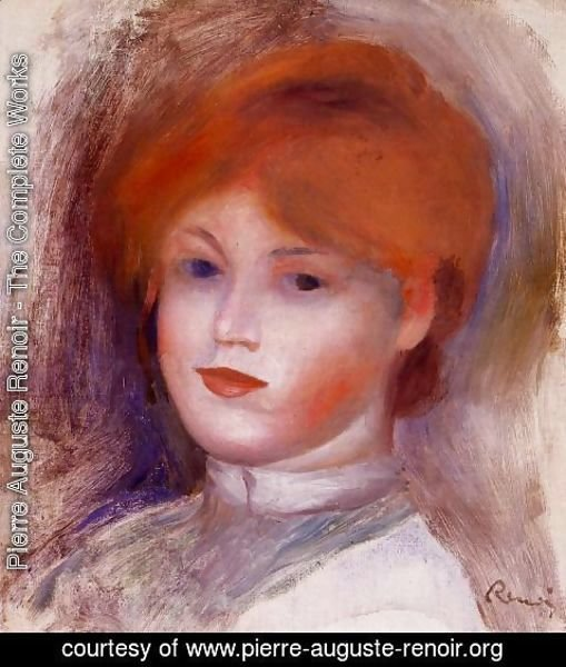 Pierre Auguste Renoir - Head Of A Young Woman2