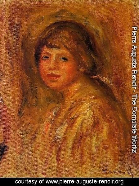 Pierre Auguste Renoir - Head Of A Young Woman6