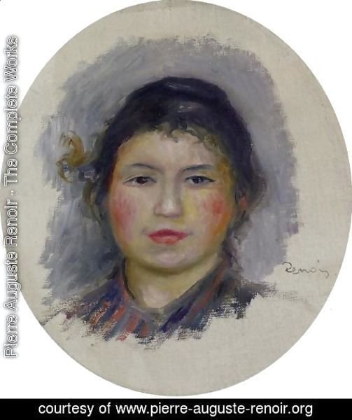 Pierre Auguste Renoir - Head Of A Young Woman7