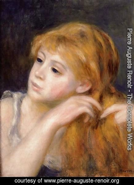 Pierre Auguste Renoir - Head Of A Young Woman9