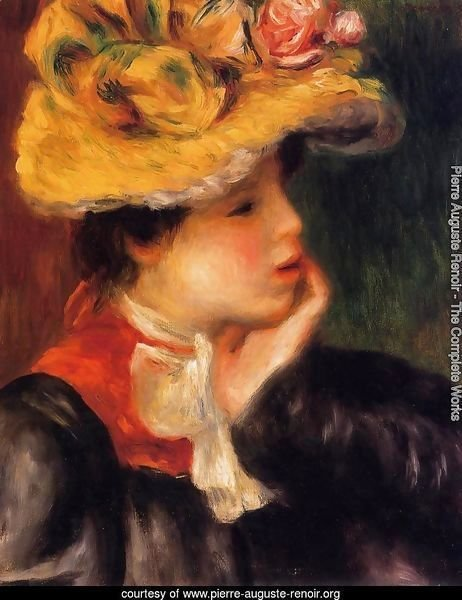 Head Of A Young Woman Aka Yellow Hat