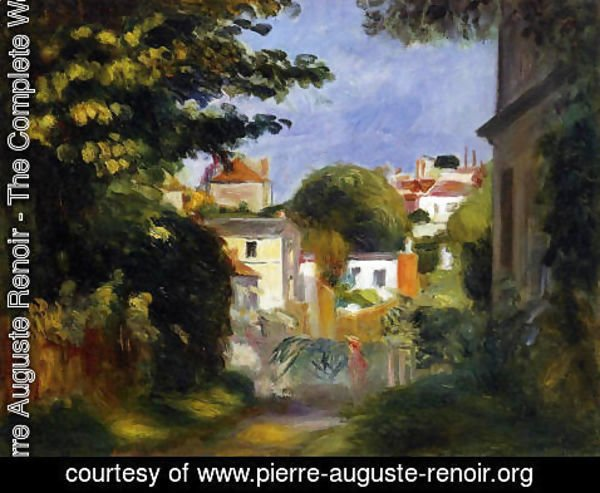Pierre Auguste Renoir - House And Figures Among The Trees