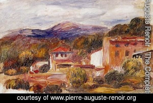 Pierre Auguste Renoir - House And Trees With Foothills
