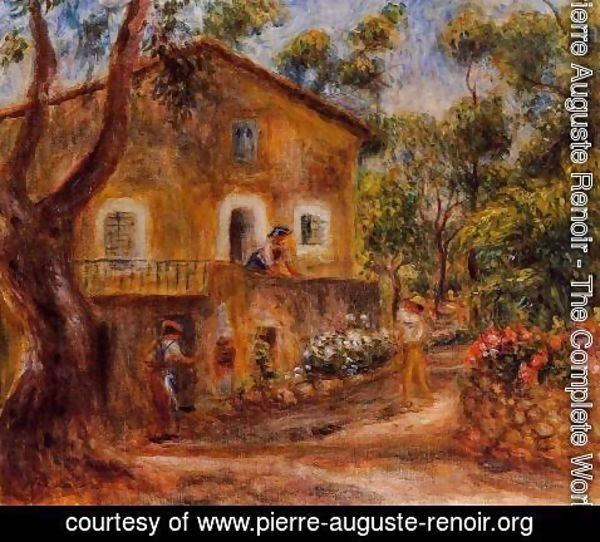 Pierre Auguste Renoir - House In Collett At Cagnes