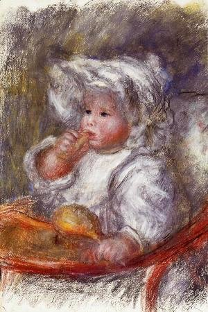 Pierre Auguste Renoir - Jean Renoir In A Chair Aka Child With A Biscuit