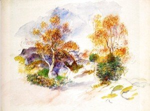 Pierre Auguste Renoir - Landascape With Trees