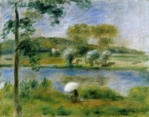Pierre Auguste Renoir - Landscape Banks Of The River