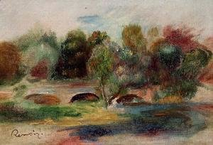 Pierre Auguste Renoir - Landscape With Bridge