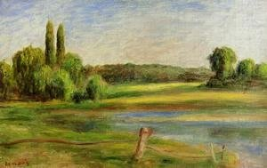 Pierre Auguste Renoir - Landscape With Fence