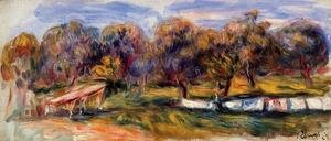 Pierre Auguste Renoir - Landscape With Orchard