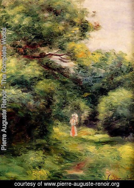 Pierre Auguste Renoir - Lane In The Woods  Woman With A Child In Her Arms