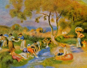 Pierre Auguste Renoir - Laundresses At Cagnes