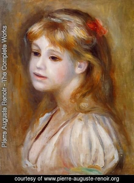 Pierre Auguste Renoir - Little Girl With A Red Hair Knot
