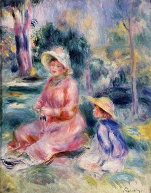 Pierre Auguste Renoir - Madame Renoir And Her Son Pierre