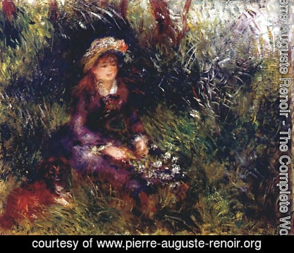 Pierre Auguste Renoir - Madame Renoir With A Dog