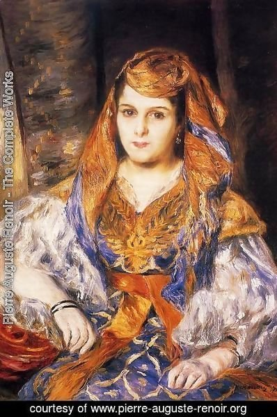 Pierre Auguste Renoir - Madame Stora In Algerian Dress