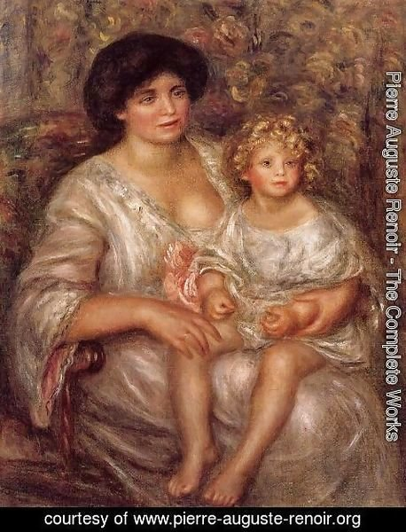 Pierre Auguste Renoir - Madame Thurneyssan And Her Daughter