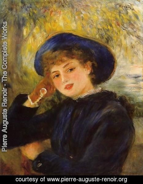 Pierre Auguste Renoir - Mademoiselle Demarsy Aka Woman Leaning On Her Elbow
