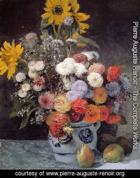 Pierre Auguste Renoir - Mixed Flowers In An Earthenware Pot
