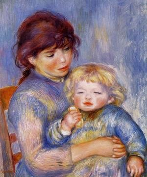 Pierre Auguste Renoir - Motherhood Aka Child With A Biscuit