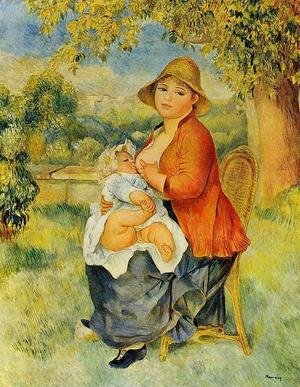 Pierre Auguste Renoir - Motherhood Aka Woman Breast Feeding Her Child