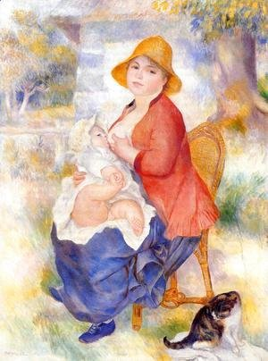 Pierre Auguste Renoir - Motherhood Aka Woman Breast Feeding Her Child2