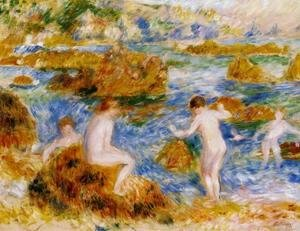 Pierre Auguste Renoir - Nude Boys On The Rocks At Guernsey