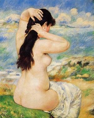 Pierre Auguste Renoir - Nude Fixing Her Hair