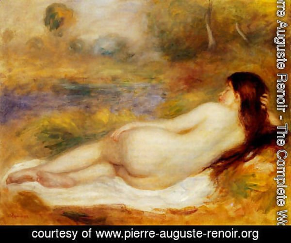 Pierre Auguste Renoir - Nude Reclining On The Grass