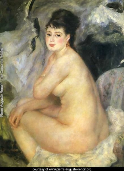 Nude Seated On A Sofa