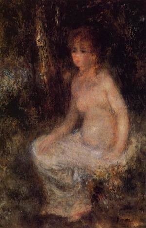 Pierre Auguste Renoir - Nude Sitting In The Forest