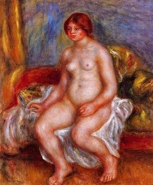 Pierre Auguste Renoir - Nude Woman On Gree Cushions