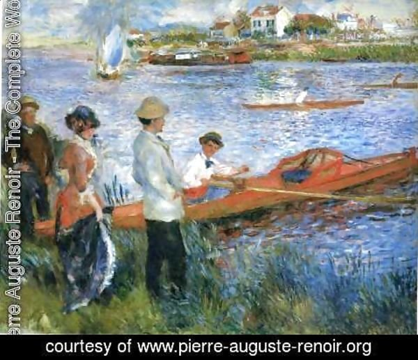 Pierre Auguste Renoir - Oarsmen At Chatou