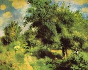 Pierre Auguste Renoir - Orchard At Louveciennes   The English Pear Tree