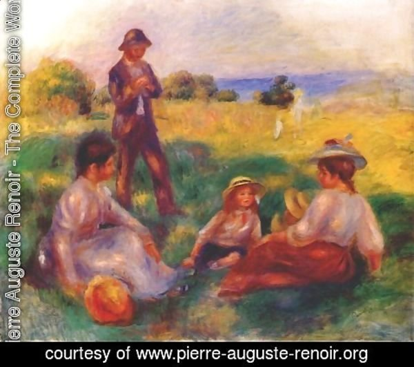 Pierre Auguste Renoir - Party In The Country At Berneval