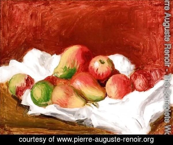 Pierre Auguste Renoir - Pears And Apples
