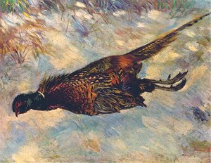 Pierre Auguste Renoir - Pheasant In The Snow