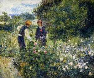 Pierre Auguste Renoir - Picking Flowers