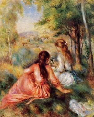 Pierre Auguste Renoir - Picking Flowers Aka In The Field