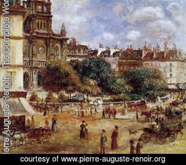 Pierre Auguste Renoir - Place De La Trinite  Paris