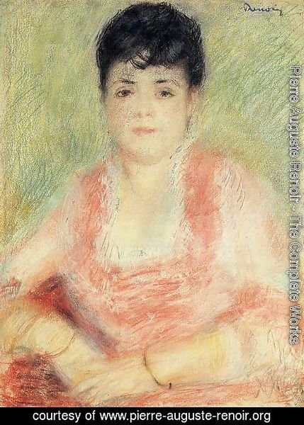 Pierre Auguste Renoir - Portrait In A Pink Dress