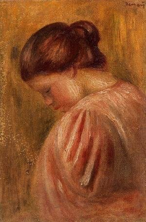 Pierre Auguste Renoir - Portrait Of A Girl In Red