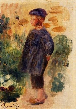 Pierre Auguste Renoir - Portrait Of A Kid In A Beret